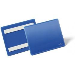 Durable 1763, samolepící kapsa na dokumenty, formát A6 na šířku, modrá
