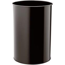 Durable 3303, odpadkový koš kovový METAL ROUND 30 litrů, černý