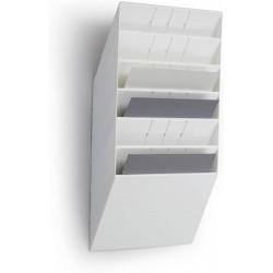 Durable prospektový stojan FLEXIBOXX 6, formát A4 na šířku, bílá