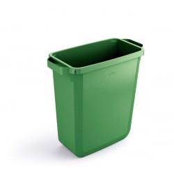 Durable DURABIN 60, odpadkový koš obdélníkového tvaru, kapacita 60 litrů, zelený