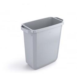 Durable DURABIN 60, odpadkový koš obdélníkového tvaru, kapacita 60 litrů, šedý