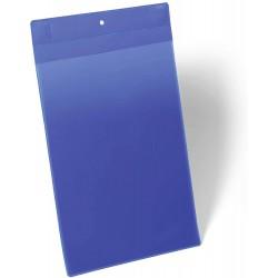 Durable 1747, neodymové magnetické kapsy na dokumenty A4 na výšku, modré
