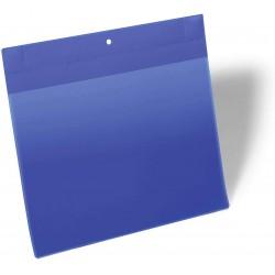 Durable 1748, neodymové magnetické kapsy na dokumenty A4 na šířku, modré