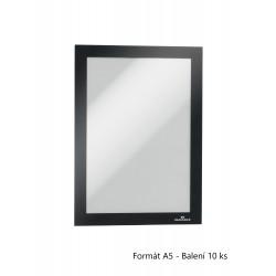 Durable 4881, samolepící rámeček DURAFRAME A5 černý, velké balení 10 ks