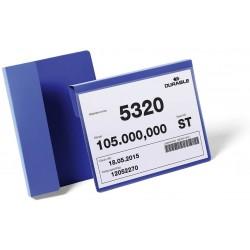 Durable 1722, závěsné plastová kapsa na dokumenty pro označení palet, A5 modrá