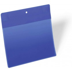 Durable 1746, neodymová magnetická kapsa na dokumenty A5 na šířku, modrá