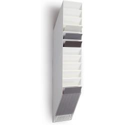 Durable prospektový stojan na letáky FLEXIBOXX 12, formát A4 na výšku, bílý