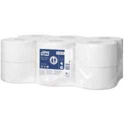 Tork Mini Jumbo 120207, toaletní papír dvouvrstvý Advanced bílý, 130m, T2