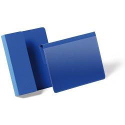 Durable 1721, závěsná plastová kapsa na dokumenty na označení palet A6, modrá