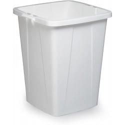 Durable DURABIN 90, odpadkový koš čtvercového tvaru, kapacita 90 litrů, bílý