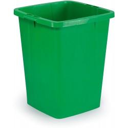 Durable DURABIN 90, odpadkový koš čtvercového tvaru, kapacita 90 litrů, zelený