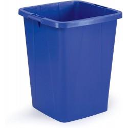 Durable DURABIN 90, odpadkový koš čtvercového tvaru, kapacita 90 litrů, modrý