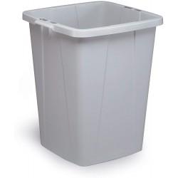 Durable DURABIN 90, odpadkový koš čtvercového tvaru, kapacita 90 litrů, šedý