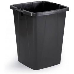 Durable DURABIN 90, odpadkový koš čtvercového tvaru, kapacita 90 litrů, černý