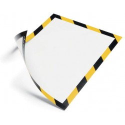 Durable 4945, magnetický rámeček DURAFRAME MAGNETIC SECURITY žluto černý, balení 5 ks
