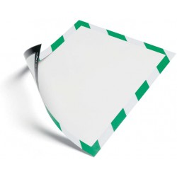 Durable 4945, magnetický rámeček DURAFRAME MAGNETIC SECURITY zeleno bílý, balení 5 ks