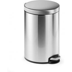 Durable 3401, Nerezový odpadkový koš obsah 12 litrů, kulatý s pedálem
