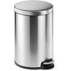 Durable 3402, Nerezový odpadkový koš obsah 20 litrů, kulatý s pedálem
