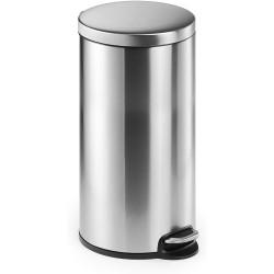 Durable 3403, Nerezový odpadkový koš obsah 30 litrů, kulatý s pedálem