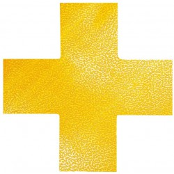 Durable 1701, podlahová značka tvar Kříž, žlutá barva, sada 10 ks