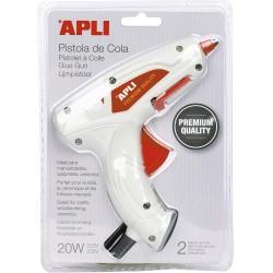 APLI tavná pistole Premium, 20 W, 2 tavné tyčinky