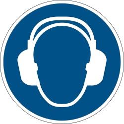 Durable 1729, podlahová značka - Použij chrániče sluchu, průměr 43 cm