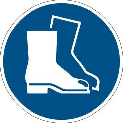Durable 1733, podlahová značka - Použij ochranou obuv, průměr 43 cm