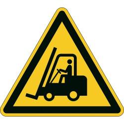 Durable 1734, podlahová značka - Pozor! Vysokozdvižný vozík, 43 x 37.8 cm