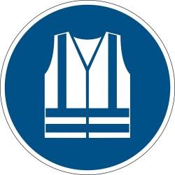 Durable 1735, podlahová značka - Použij ochrannou vestu, průměr 43 cm