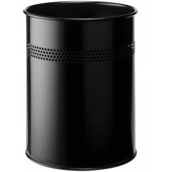 Durable 3300, odpadkový koš METAL ROUND 15 litrů černý