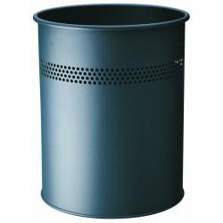 Durable 3300, odpadkový koš METAL ROUND 15 litrů tmavě šedý