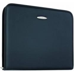 ALBA konferenční desky se zipem, koženka černá