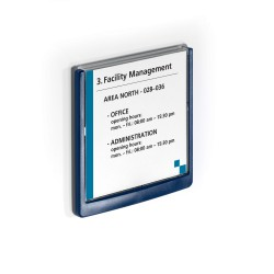Durable 4862, orientační štítek CLICK SIGN 149x148,5 mm, modrá