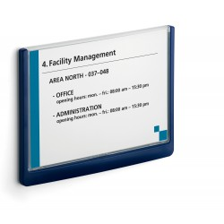 Durable 4866, orientační štítek CLICK SIGN 210x148,5 mm A5, modrá