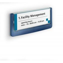 Durable 4860, orientační štítek CLICK SIGN 149x52,5 mm, modrá