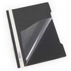 Durable 2573, rychlovazač PP, průhledná přední strana A4, černá, balení 50 ks