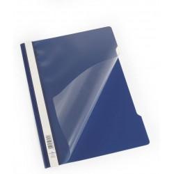 Durable 2573, rychlovazač PP, průhledná přední strana A4, modrá, balení 50 ks
