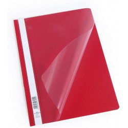 Durable 2573, rychlovazač PP, průhledná přední strana A4, červená, balení 50 ks