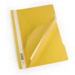 Durable 2573, rychlovazač PP, průhledná přední strana A4, žlutá, balení 50 ks