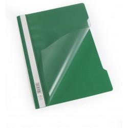 Durable 2573, rychlovazač PP, průhledná přední strana A4, zelená, balení 50 ks
