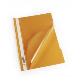 Durable 2573, rychlovazač PP, průhledná přední strana A4, oranžová, balení 50 ks