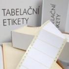 Tabelační etikety pro jehličkové tiskárny